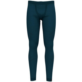 Odlo Suw Natural + Kinship Warm Leggings Heren, blue coral melange